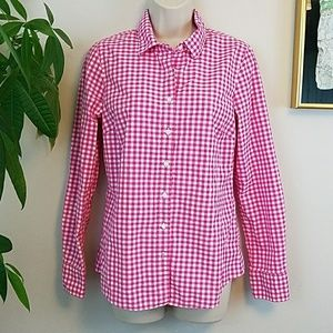 J. CREW Perfect Gingham Button Up